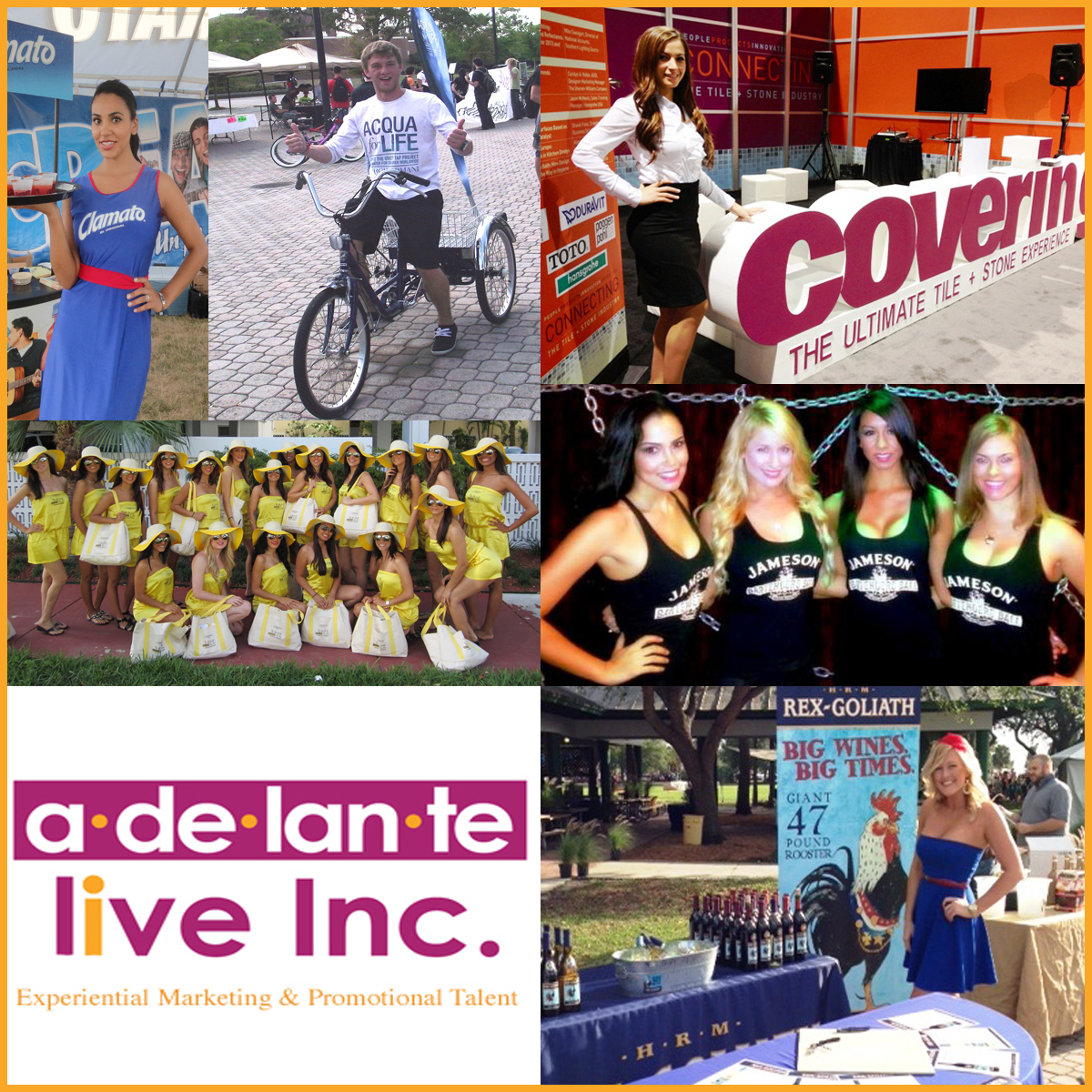 Adelante Live Inc. Experiential Marketing and Promotional Talen