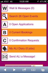 ALI Mobile Site Homepage